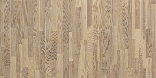 Паркетная доска Floor Wood 3х Полосная ASH Madison WHITE MATT LAC